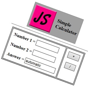 JS sample--a simple calculator